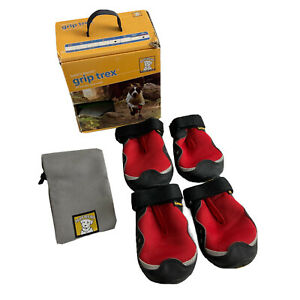 Ruffwear Grip Trex Dog Boots Red Currant 3in L Large
