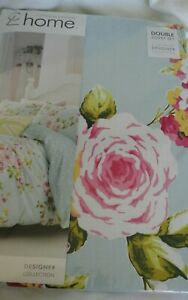 Catherine Lansfield Double Duvet Set  Duckegg and Pink.