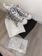 NAVY DIOR B23 CANVAS UNISEX HIGH TOP TRAINERS SIZE 9