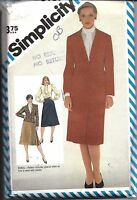 6187 Simplicity Vintage SEWING Pattern Misses Slim Skirt Blouse Lined Jacket OOP