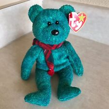 Vintage 1999 TY Beanie Baby ~ Wallace Stuffed Toy Plush Bear Rare with Errors