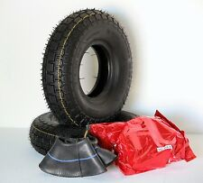 Pair of (4.10/3.50-5) Black Mobility Scooter, Wheelchair Tyres & Tubes.