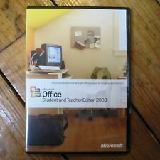 Microsoft Office Student + Teacher 2003 PC Physical Disc Genuine Retail w Key