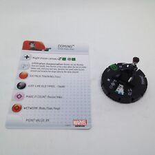 Heroclix Deadpool set Domino #027 Uncommon figure w/card!