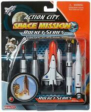 5 Piece Plastic Space Shuttle and Rockets Toy Figures