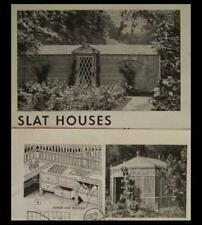 Garden SLAT HOUSE 9'x12' Lath/Lattice 1948 How-To build PLANS