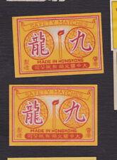 Ancienne étiquette allumettes Chine BN122912 Hong Kong