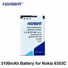 HSABAT 3100mAh BL-5CT Battery For Nokia 5220XM Battery 6730 C5-00 C6-01 C3-01 63