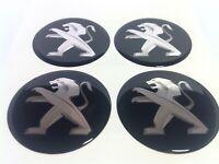 Stickers silicone centre jante moyeu de roue pour PEUGEOT 4 x 55mm