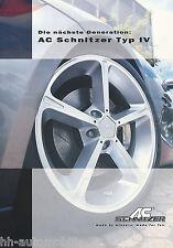 Prospekt: AC Schnitzer Typ IV Räder, Leichtmetallfelgen - 2001 brochure wheels
