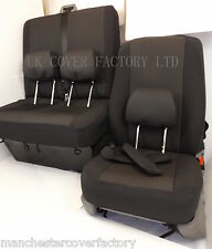 Mercedes Vito Van Seat Covers-tailored to fit-OEM Charcoal Black Silver Fleck