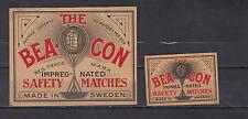 Ancienne  étiquette    allumettes Suède  AZ2477  Bea Con