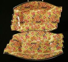 Lovely pair of Royal Winton / Grimwwades Art Deco Chintz serving dishes.
