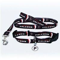 ATLANTA FALCONS Dog Collar & Leash, ID Tag Pet Set NFL Licensed  **NEW**
