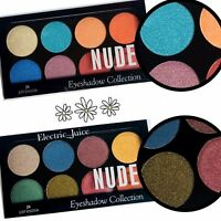 BOTH!!! 2Pcs Just Kolour Eyeshadow Palettes 8 Color Metallic Shimmer Eyes Shadow