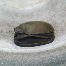 ARTHUR COURT DESIGNS 1976 BRONZE INKWELL EGYPTIAN SCARAB BEETLE, RARE