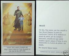 OLD BLESSED SAINT RICHARD PAMPURI HOLY CARD PRAYER ANDACHTSBILD SANTINI   CC836