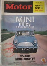 Motor magazine 23 May 1962 featuring Porsche 356B Super 75 road test