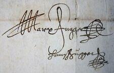 HANDSCHRIFT GRAFEN MARKUS & HANS FUGGER - EIGENHÄNDIGE UNTERSCHRIFTEN 1574