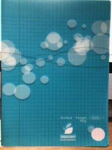 Cahier 96 pages Grands carreaux - 24 x 32cm - BLEU - polypro - NEUF