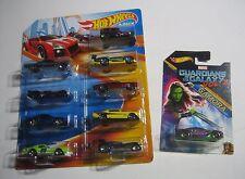 HOT WHEELS CARS Special 8 Car Pack PLUS 1 Guardians Of Galaxy Gamora Car BONUS