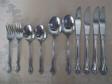10 Assorted Pieces Wm Rogers  Stainless flatware (Korea)