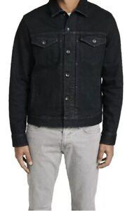 RAG & BONE Devon Definitive Jean Jacket Denim Stretch Black NWT Size XS