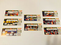 LOT Of 8 1990 MCDONALD'S DICK TRACY GAME TICKETS