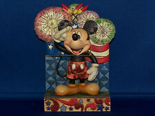 """Mickey Mouse """"We Salute You"""" Disney Traditions Figurine Designed By Jim Shore"""