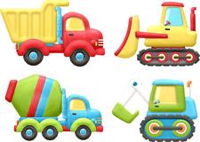 Bügelbild Applikation Aufbügler Set Auto Traktor Bagger Betonmischer Junge A5