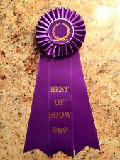 """Rosette award ribbon - Best of Show - 6""""x12"""" overall"""