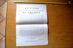 ANTICO MANIFESTO FIERA SAN PIETRO TERRA COPPARO 1844 IL PRIORE COMMERCIO