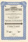 Chemins de Fer Vicinaux du Congo, certificado de 25 acciones de capital, 1953