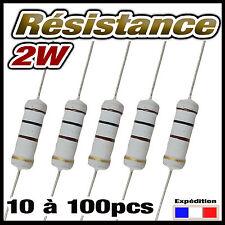 2.2K2W# résistance 2w 2,2 K ohms (2200 ) dispo 5 à 100pcs  résistor 2W carbon