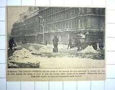 1927 Heavy Snow In London, Clearing Roads Hyde Park Corner