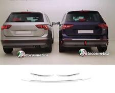 Modanature Profili Paraurto Posteriore Acciaio Cromata per Volkswagen TIGUAN 16>