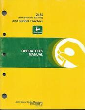 JOHN DEERE 2155 AND 2355N TRACTORS OPERATORS MANUAL