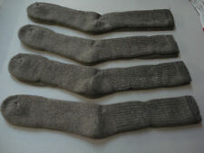 NWOT Men's 70% Merino Wool Blend Socks Shoe 12-16 Brownish Grey 4 Pair #472