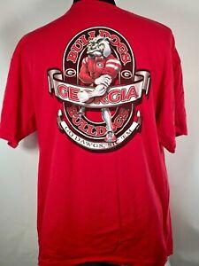 Georgia Bulldogs UGA Mascot Go Dawgs Sic Em College Football Team Red XL T-shirt