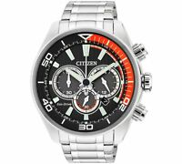 CITIZEN ECO-DRIVE CHRONOGRAPH STAINLESS STEEL MEN'S WATCH CA4330-57E NEW IN BOX