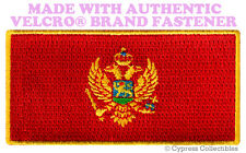 MONTENEGRO FLAG PATCH YUGOSLAVIA EMBROIDERED SOUVENIR w/ VELCRO® Brand Fastener