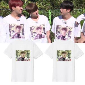 KPOP T-shirt Bangtan Boys Tshirt JIMIN Letter Tee Jungkook V SUGA JIN Fans Gift