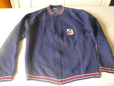 veste de  survetement Dropnyl Helanca logo olympique T 4  bleu marine vintage