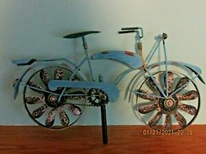 METAL BICYCLE WHIRLIGIG,  YARD DECOR