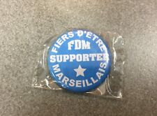 BADGE OFFICIEL BROCHE FOOT FOOTBALL SUPPORTERS CLUB LIGUE 1 OM MARSEILLE N°1
