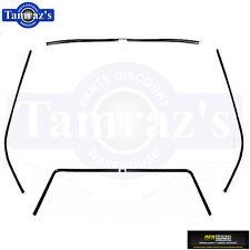 68 F-Body Interior Front Side Rear Window Headliner Windlace Molding Trim 6pcs