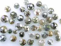 Natural Loose Diamond Rose Cut Mix Brown Color 4.00 to 5.00 MM 1.00 Ct Lot J14