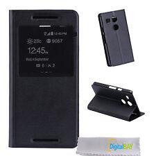 Custodia cover flip eco pelle NERO con stand e call id per Google Nexus 5X