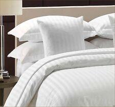300 Thread Count Satin Stripe 100% Egyptian Cotton Duvet Cover  Sets All Sizes