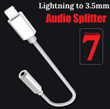 iPhone 7 7plus Earphone Headphone Adapter Lightning to 3.5mm Cable Audio AUX